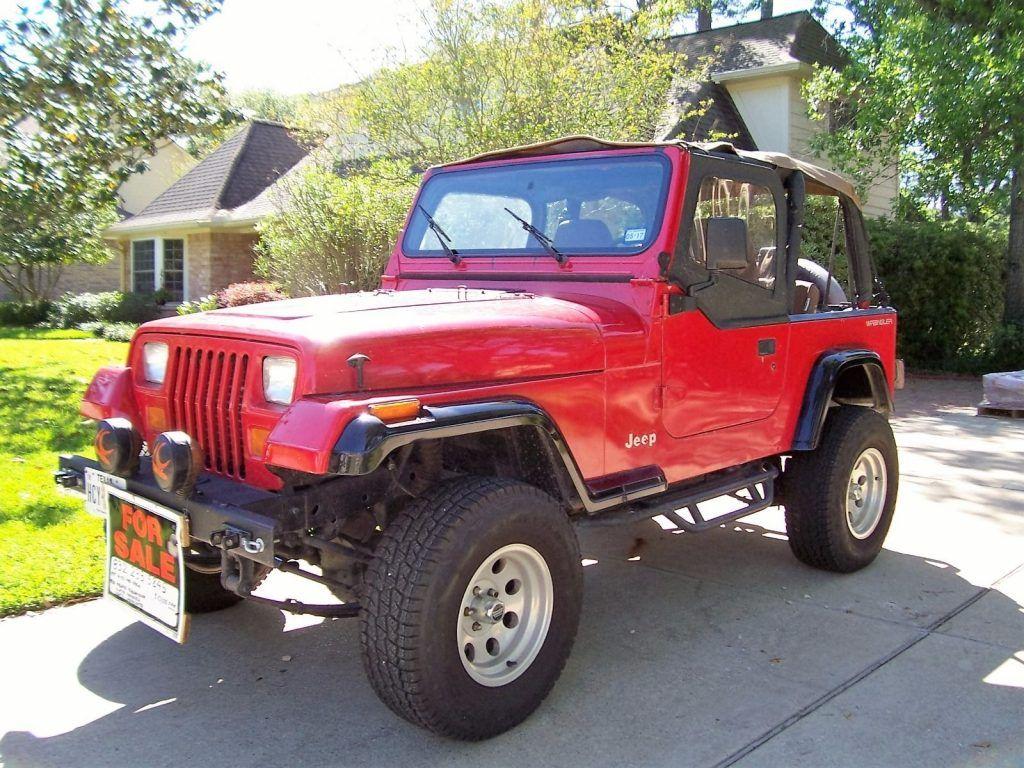 great condition 1995 jeep wrangler 4 4 for sale. Black Bedroom Furniture Sets. Home Design Ideas