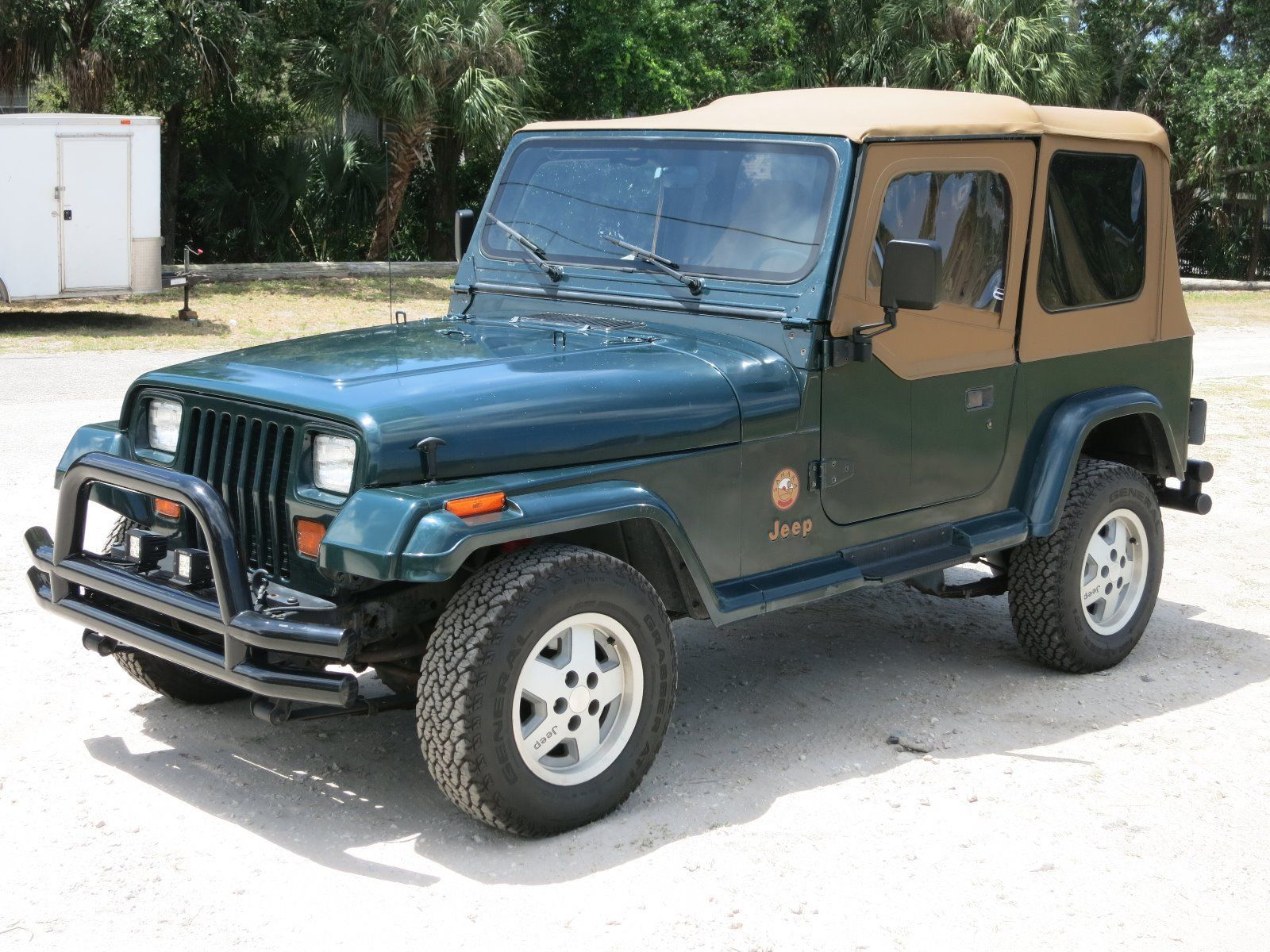Green Jeep Wrangler >> Non smoker 1994 Jeep Wrangler Sahara for sale