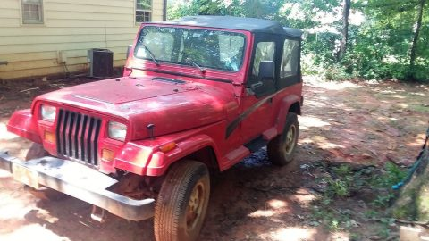 Good drivetrain 1995 Jeep Wrangler 4×4 for sale