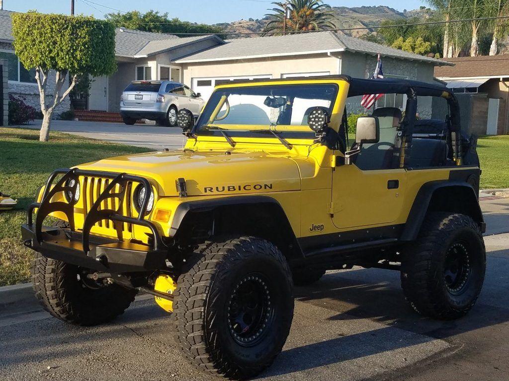 built for show 2004 jeep wrangler black yellow 4 4 for sale. Black Bedroom Furniture Sets. Home Design Ideas