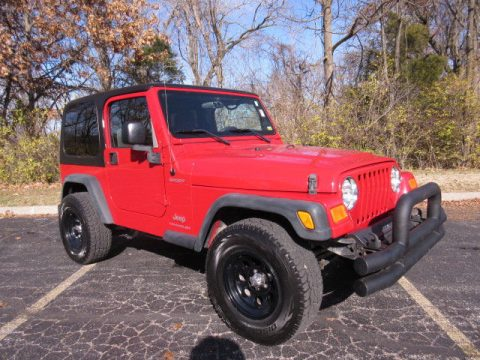 decent mileage 2006 Jeep Wrangler Sport 4×4 for sale