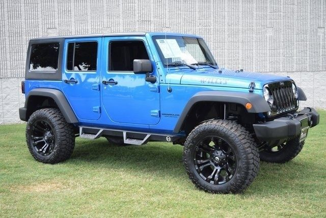 loaded 2015 Jeep Wrangler Unlimited Sport Lifted 4×4