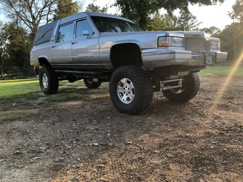 custom 1990 Cadillac Brougham by Superior Hearse 4×4 for sale