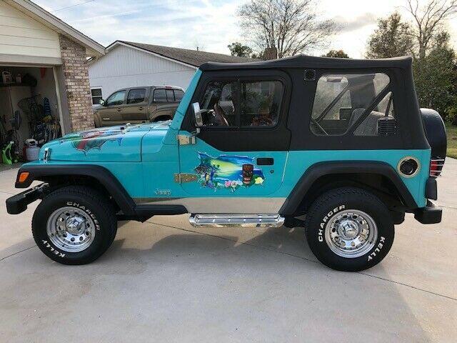 custom paint 1997 Jeep Wrangler Sport 4×4