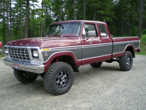 perfectly customized 1979 Ford F 250 Custom pickup 4×4 for sale