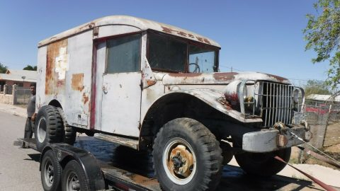 Project 1953 Dodge Ambulance military 4×4 for sale